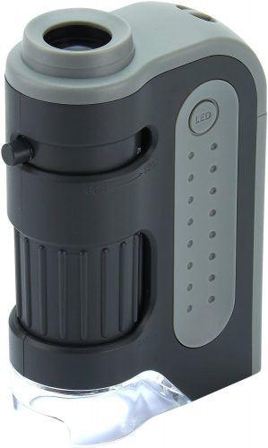 Carson MicroBrite Plus 60x-120x Power LED Lighted Pocket Microscope