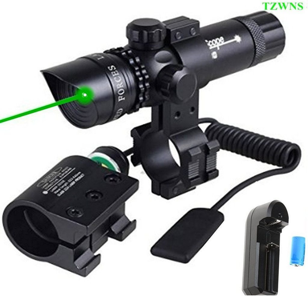 TZWNS Red Dot Scope 3 Modes Zoomable Laser Sight Scope