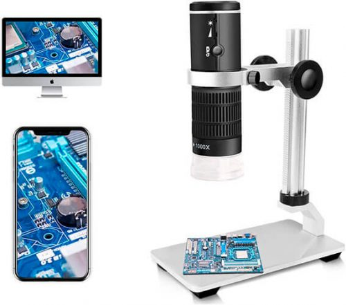 Jiusion WiFi USB Digital Microscope 50 to 1000x Wireless Magnification Endoscope